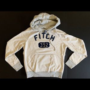 A&F Embroidered pull over hoodie